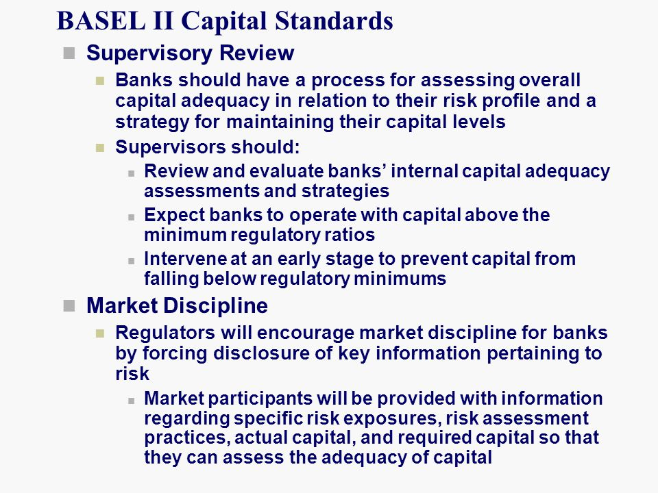 BASEL II Capital Standards
