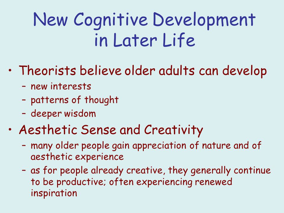 cognitive development Adult