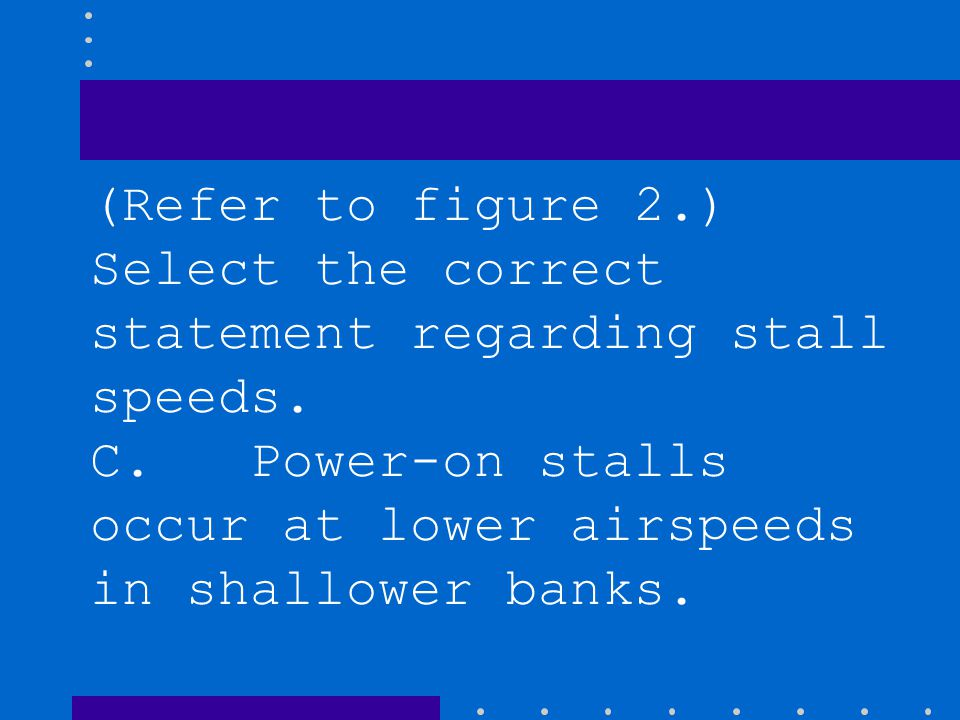 (Refer to figure 2.) Select the correct statement regarding stall speeds.