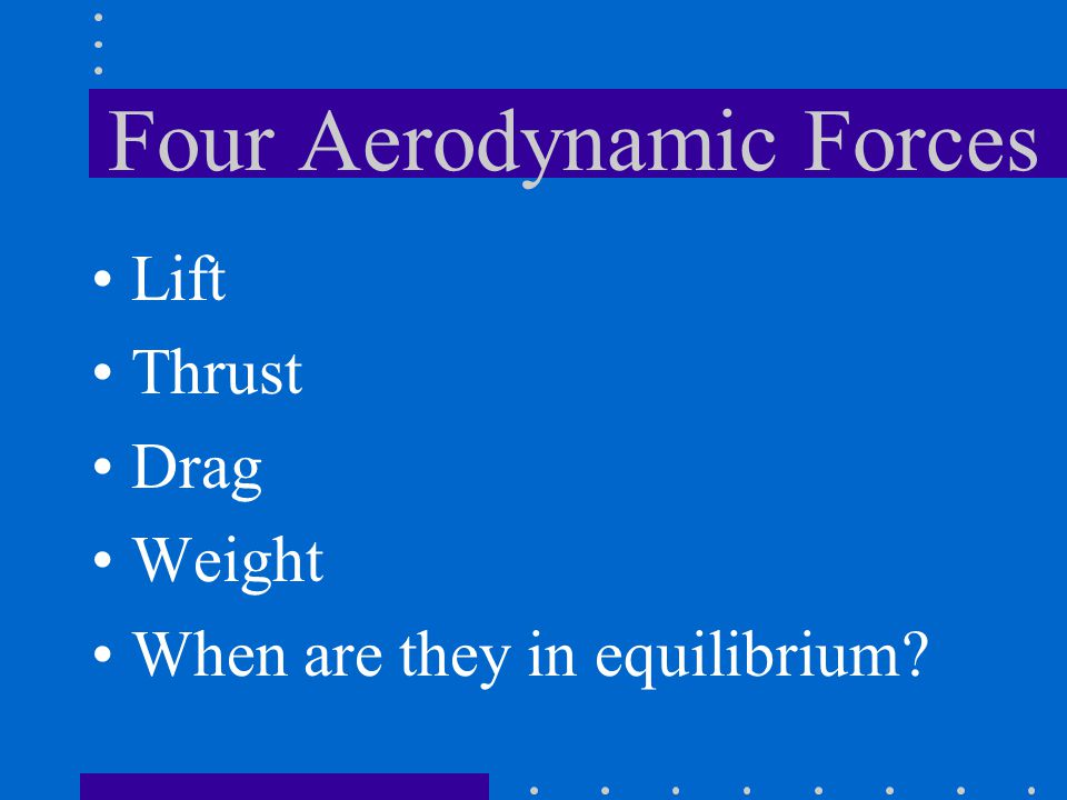 Four Aerodynamic Forces