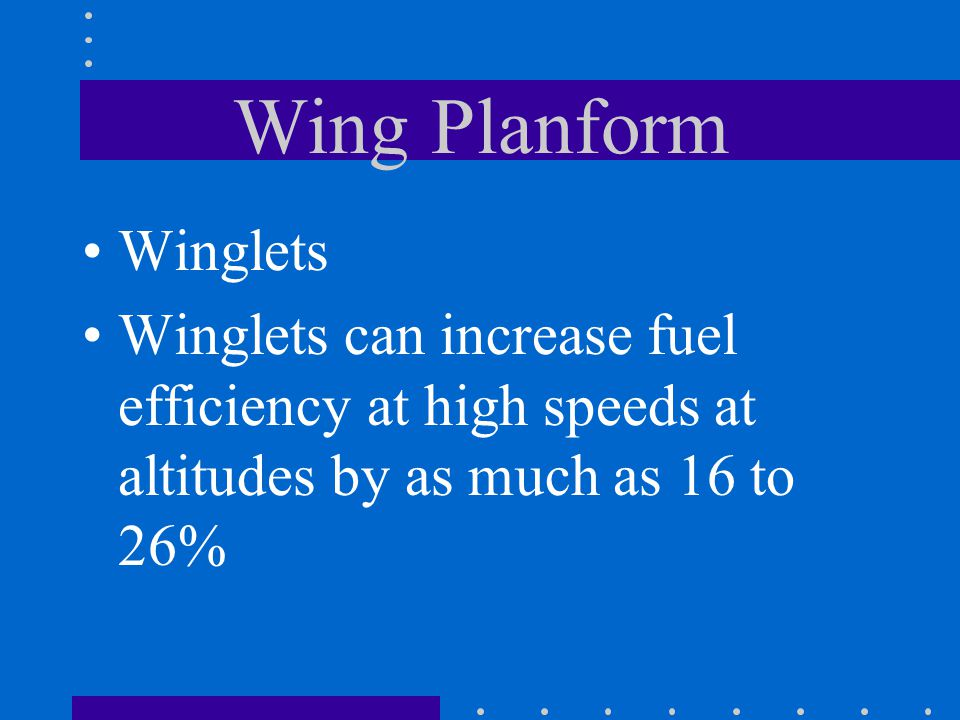 Wing Planform Winglets