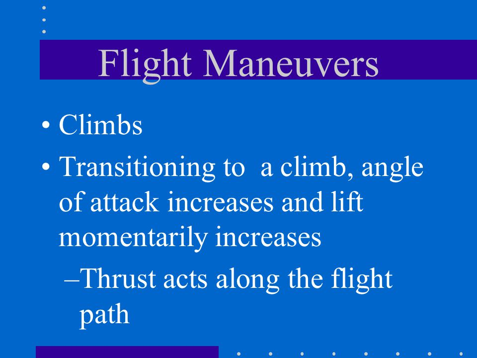 Flight Maneuvers Climbs