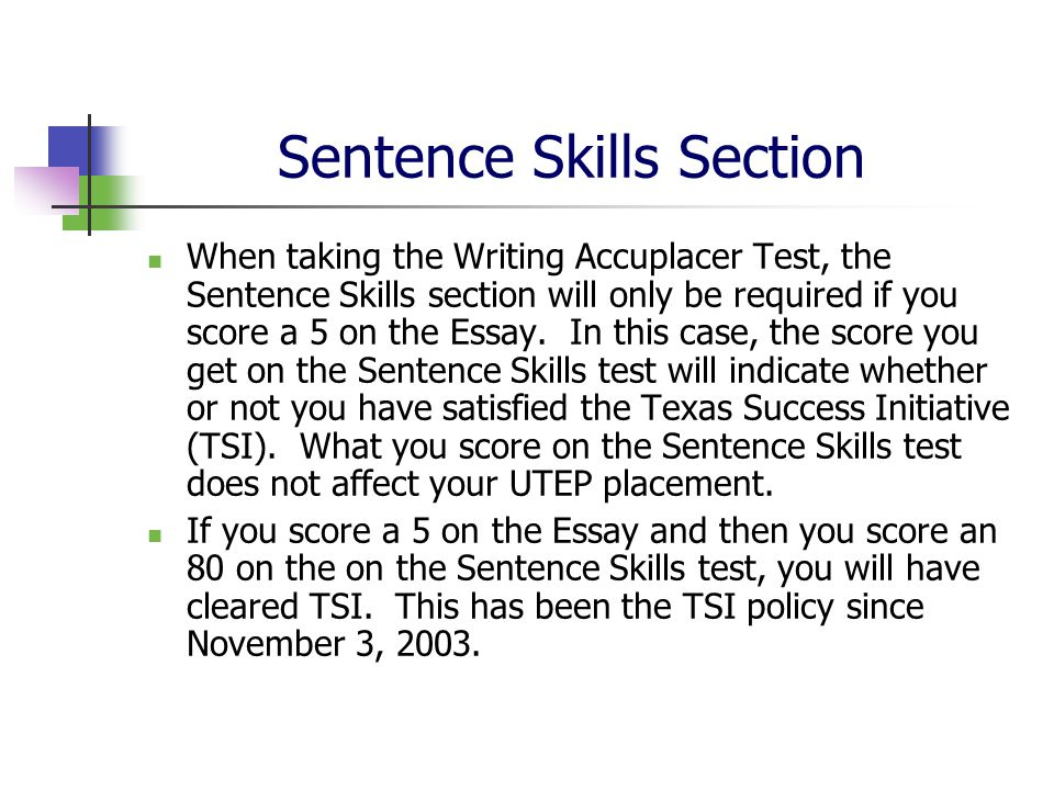 Accuplacer sentence skills online course and practice tests.