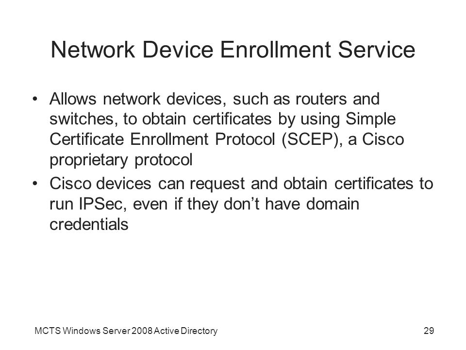 Network Device Enrollment Service