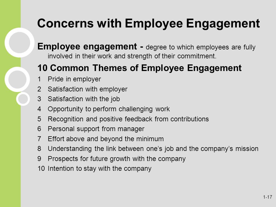 Concerns with Employee Engagement