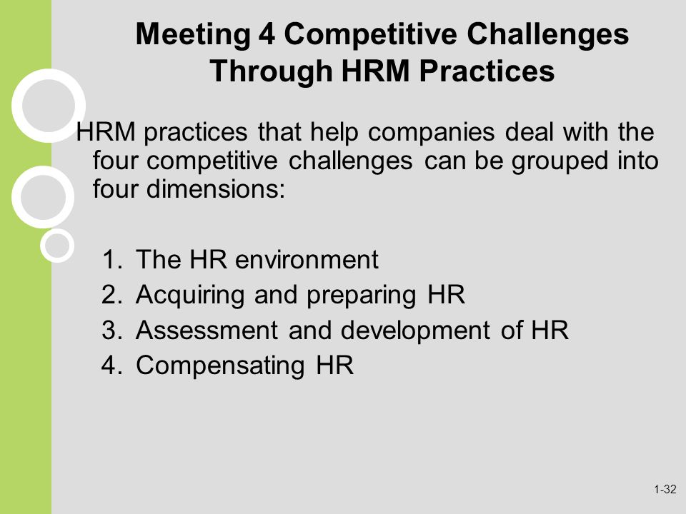 Meeting 4 Competitive Challenges Through HRM Practices