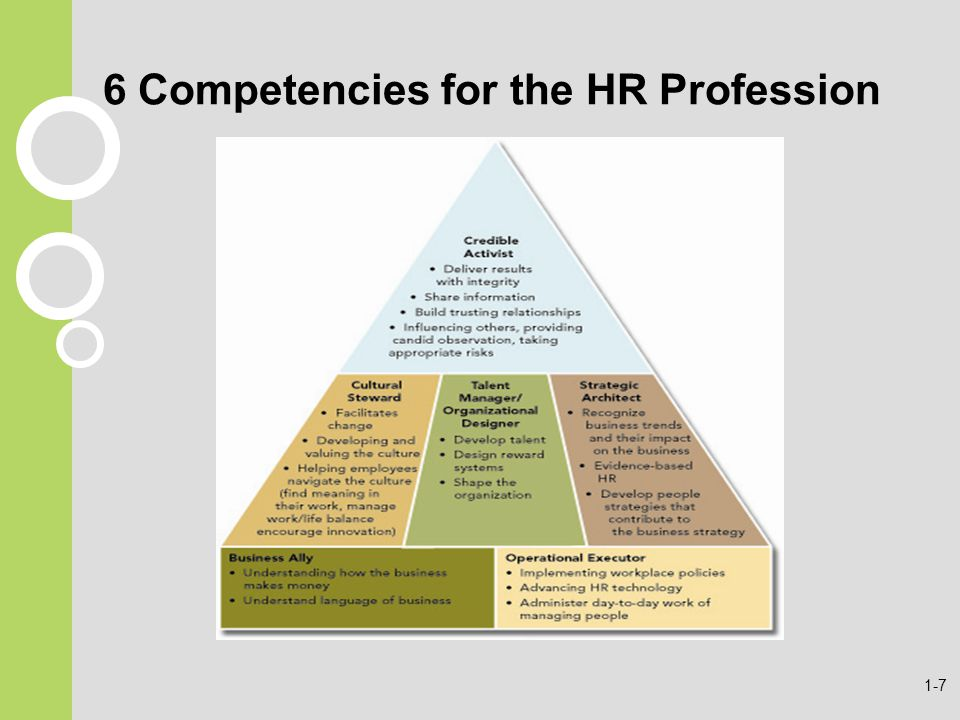 6 Competencies for the HR Profession