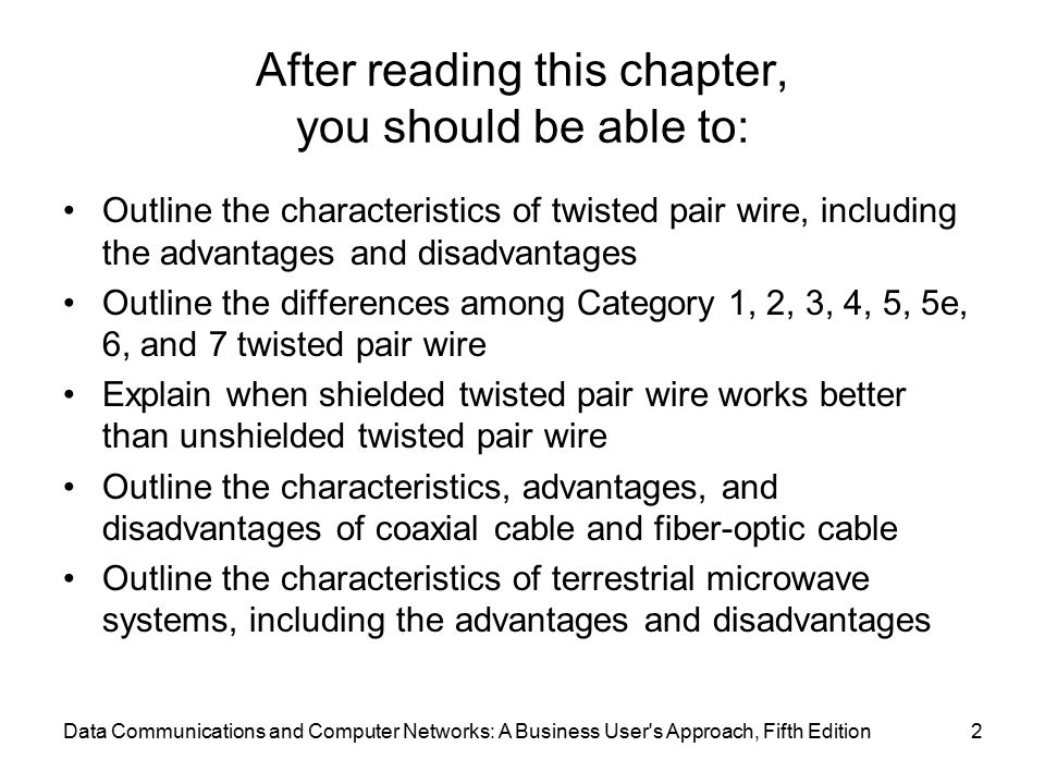 Chapter Three Conducted and Wireless Media - ppt download