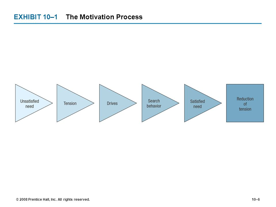 EXHIBIT 10–1 The Motivation Process