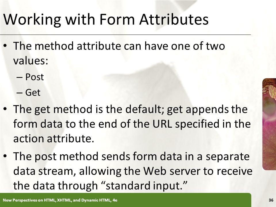 Working with Form Attributes