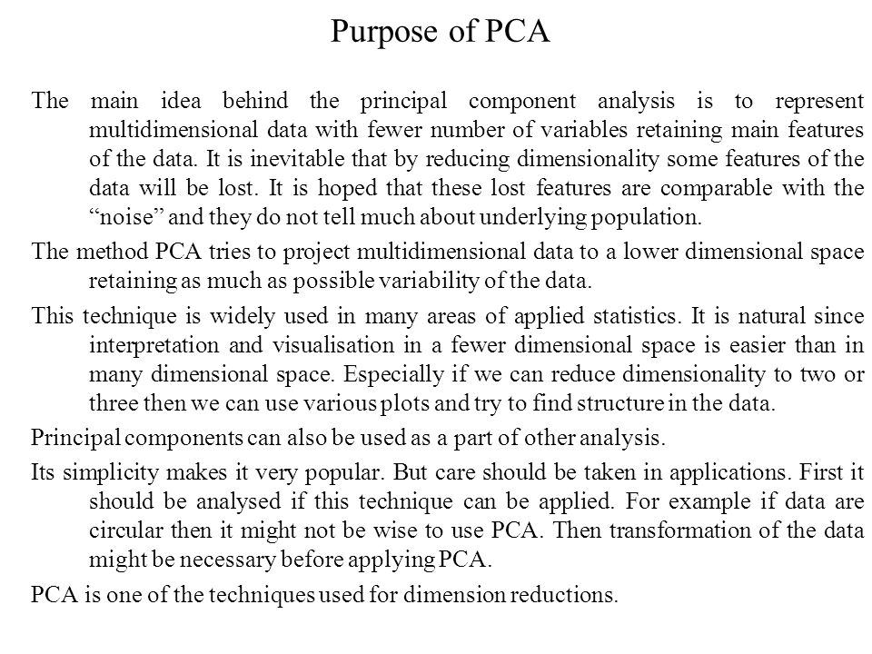 Principal component analysis (PCA) - ppt download