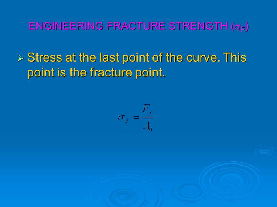 ENGINEERING FRACTURE STRENGTH (sF)
