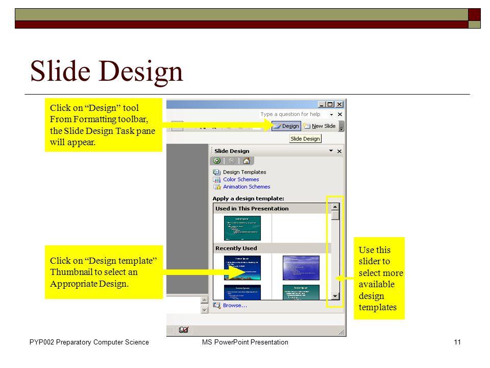 ms powerpoint slide design