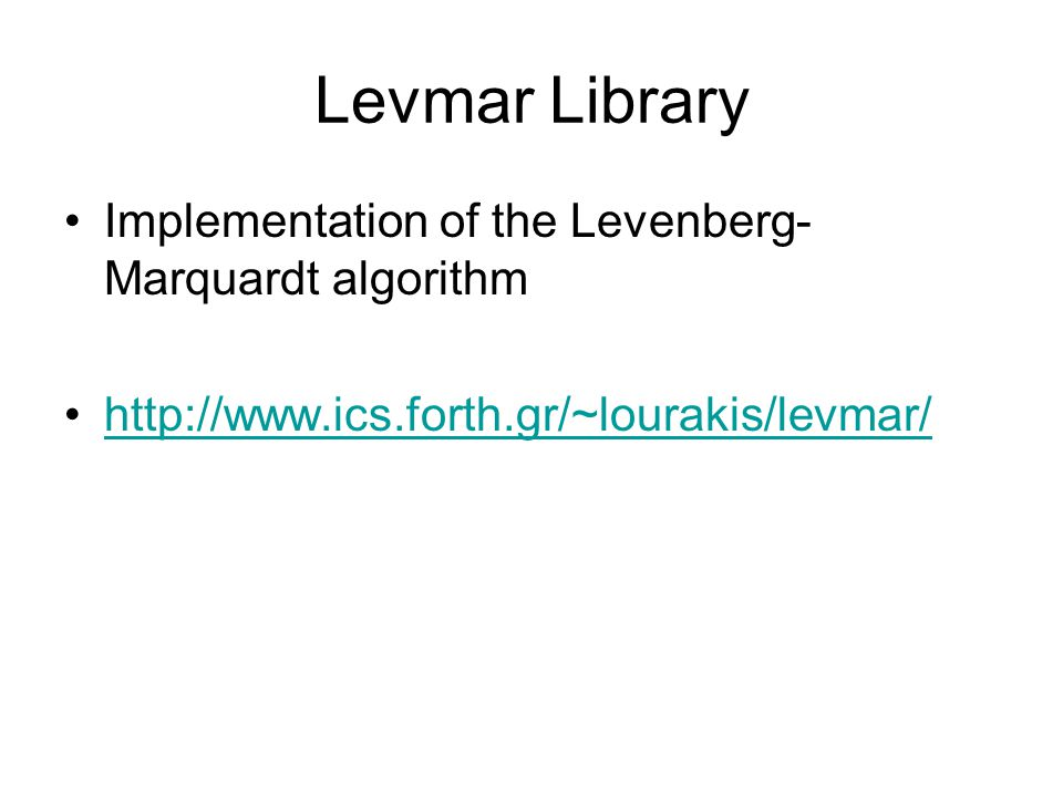 Methods For Nonlinear Least-Square Problems - ppt video