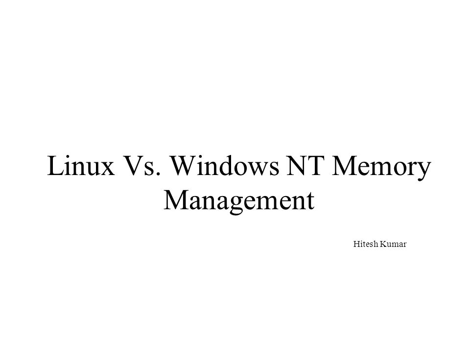 Windows nt ppt presentation