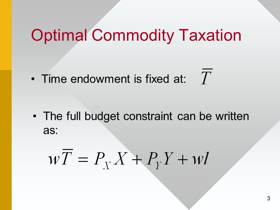 Optimal Commodity Taxation