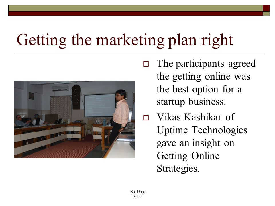 Getting the marketing plan right