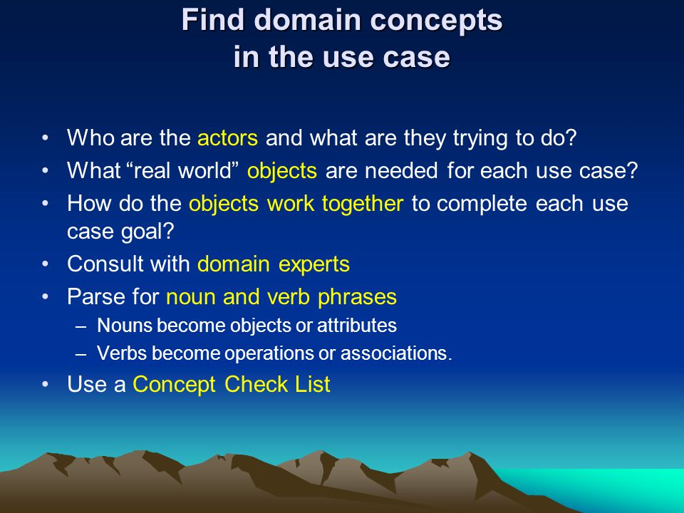 Find domain concepts in the use case