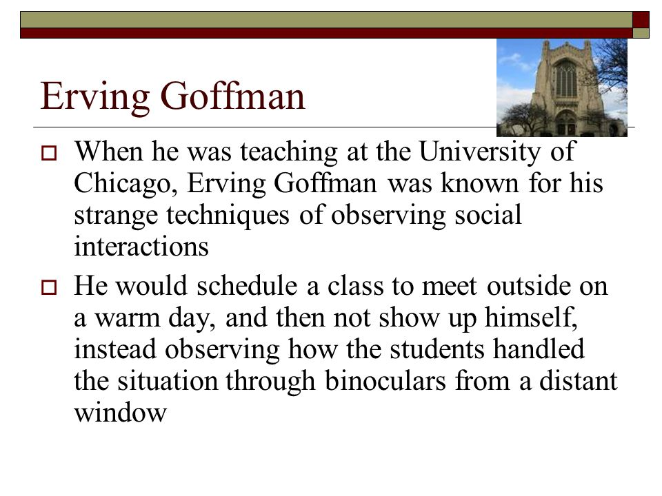 erving goffman social interaction