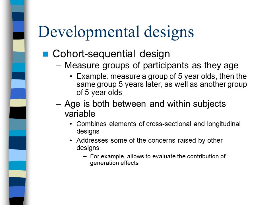 Developmental designs