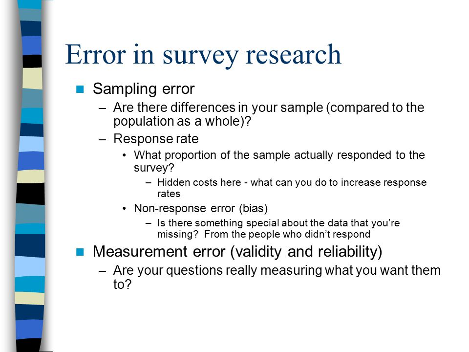 Error in survey research