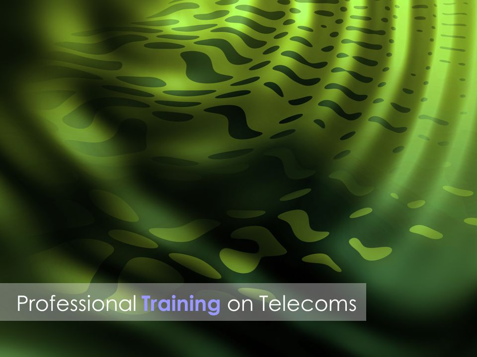Professional Training on Telecoms