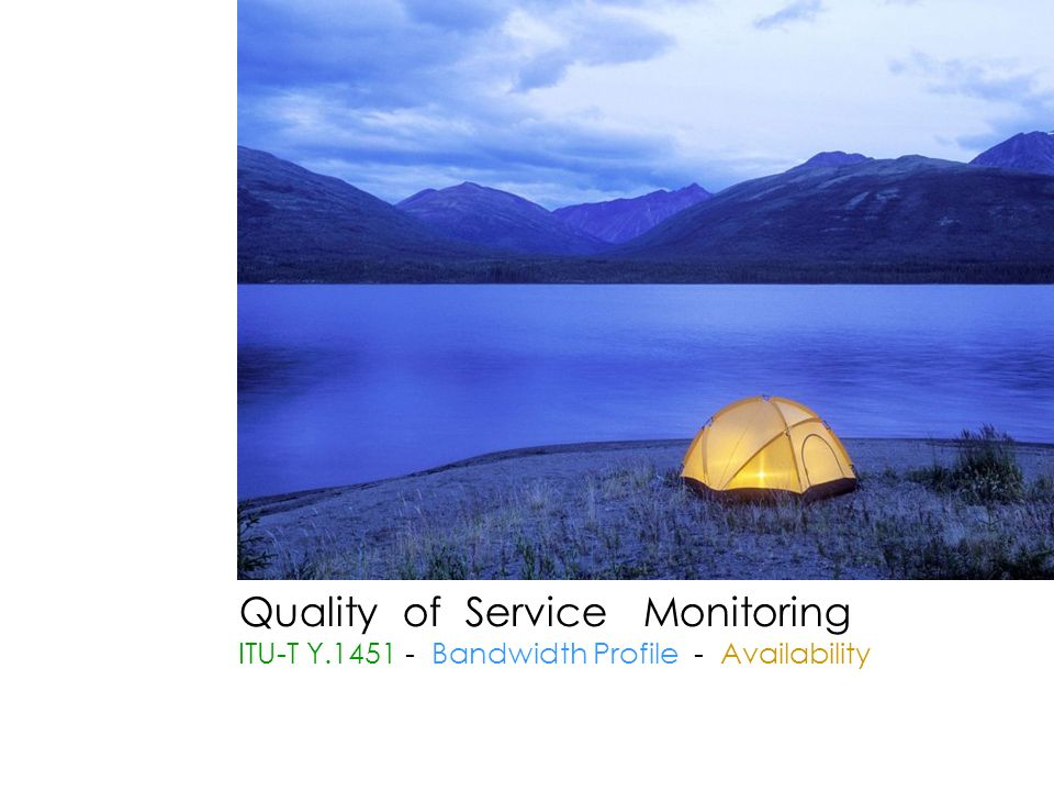 Quality of Service Monitoring ITU-T Y