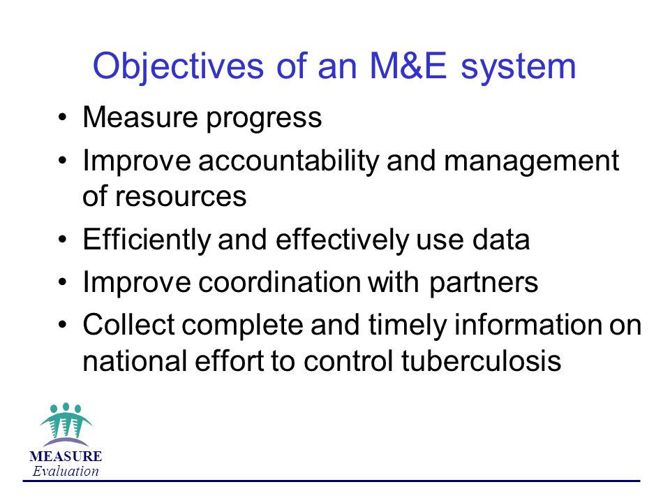 Objectives of an M&E system