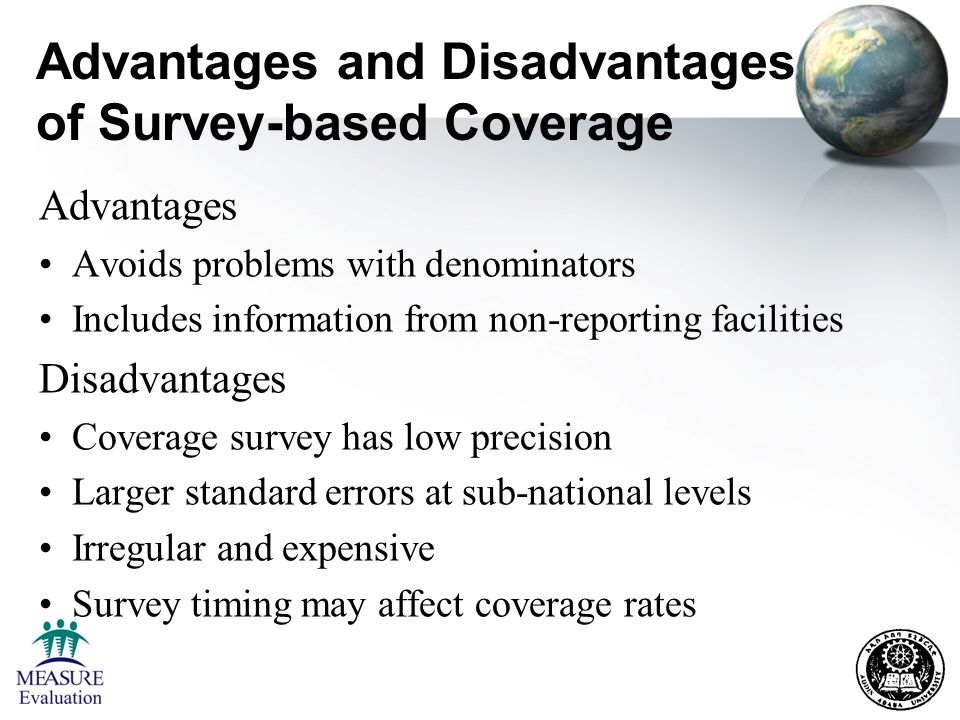 explain the advantages and disadvantages of using surveys for data collection learning objectives by the end of the session 5348