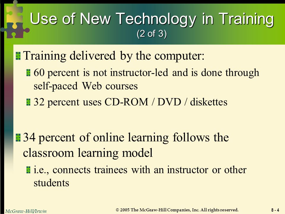 Use of New Technology in Training (2 of 3)