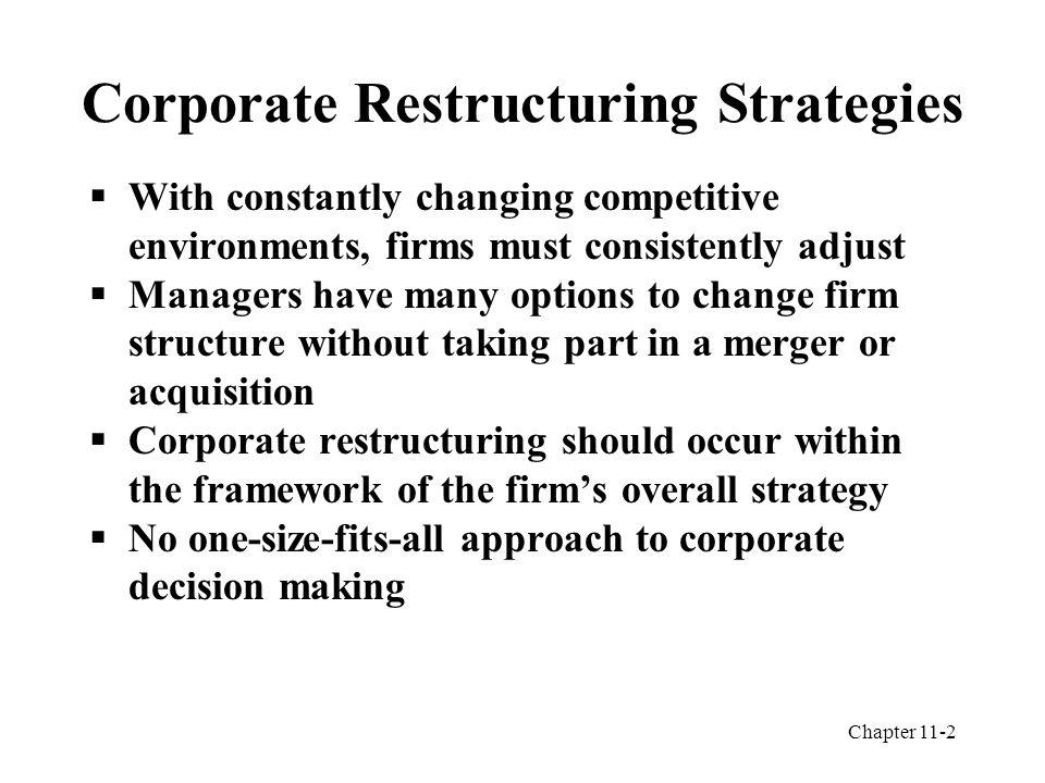 corporate restructuring strategies