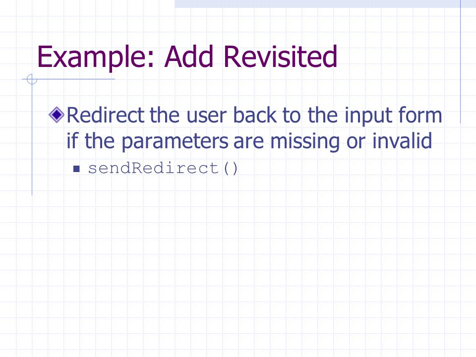 Example: Add Revisited