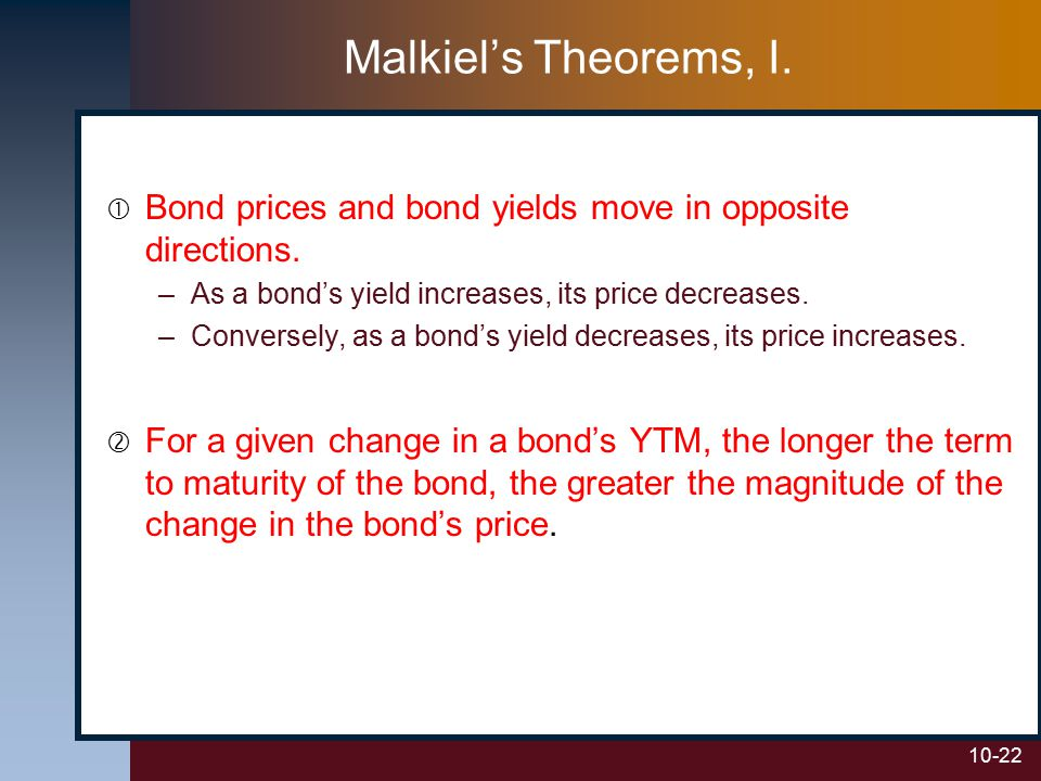 if bond prices decrease then the
