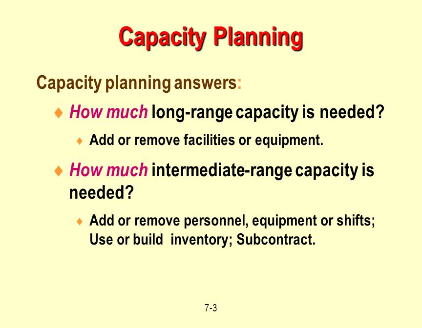Operations Management Capacity Planning Supplement 7 Ppt