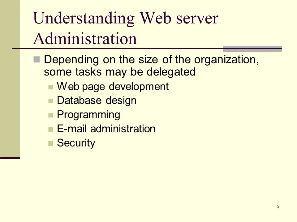 Understanding Web server Administration