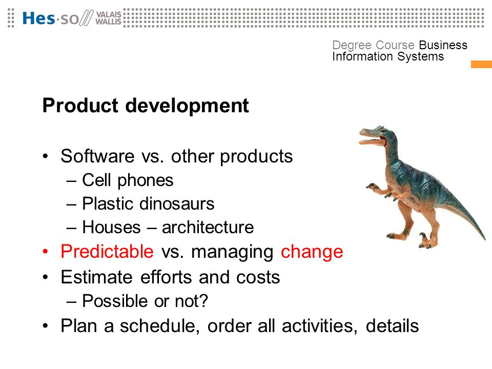 Product development Software vs. other products