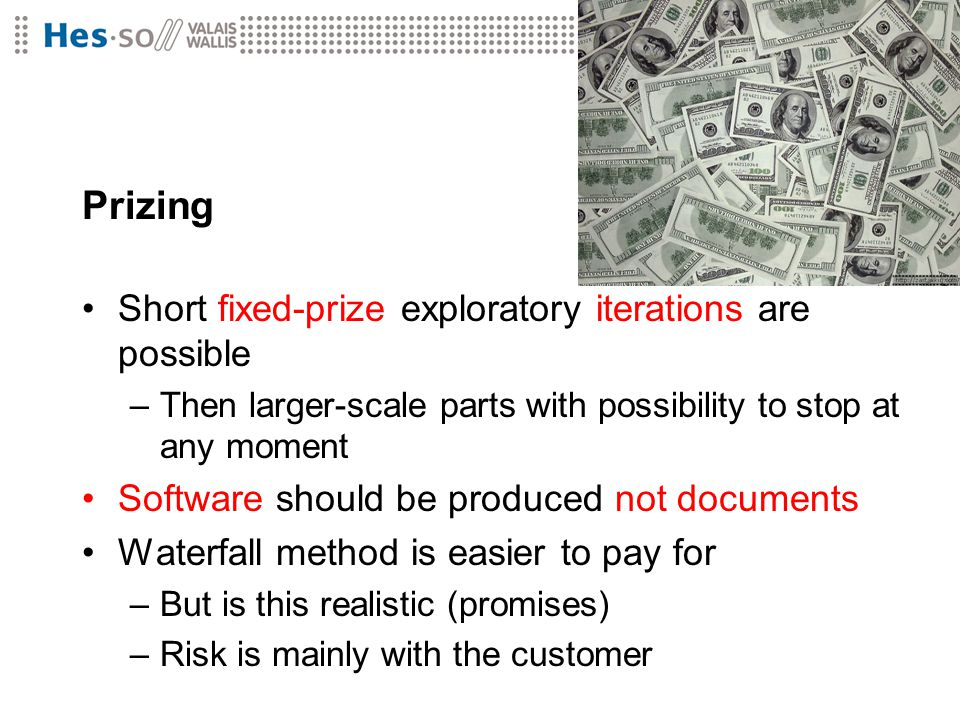 Prizing Short fixed-prize exploratory iterations are possible