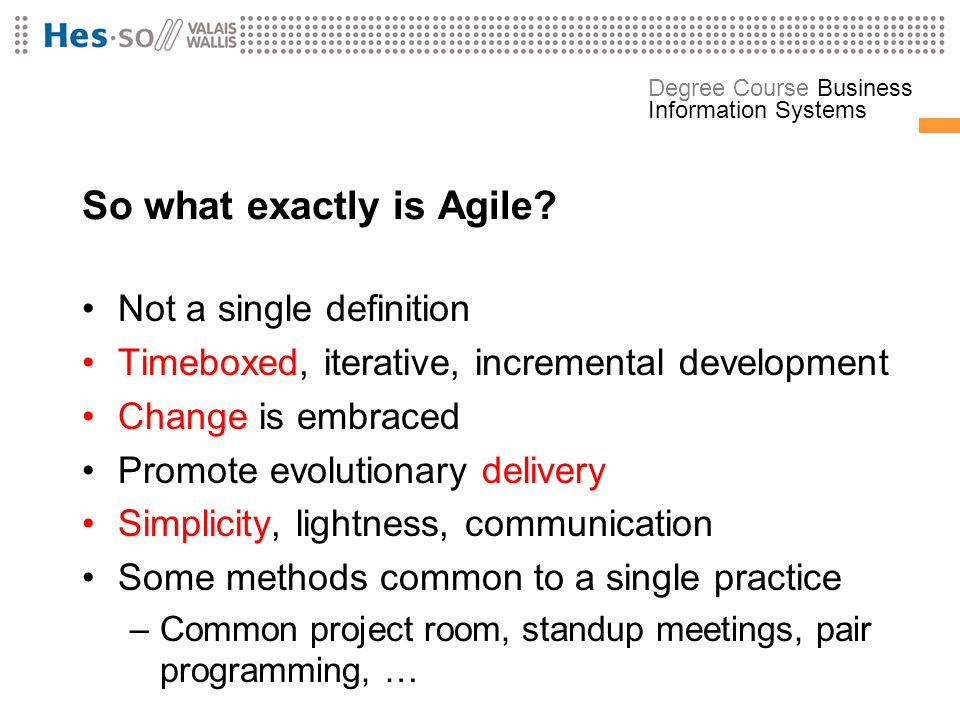 So what exactly is Agile