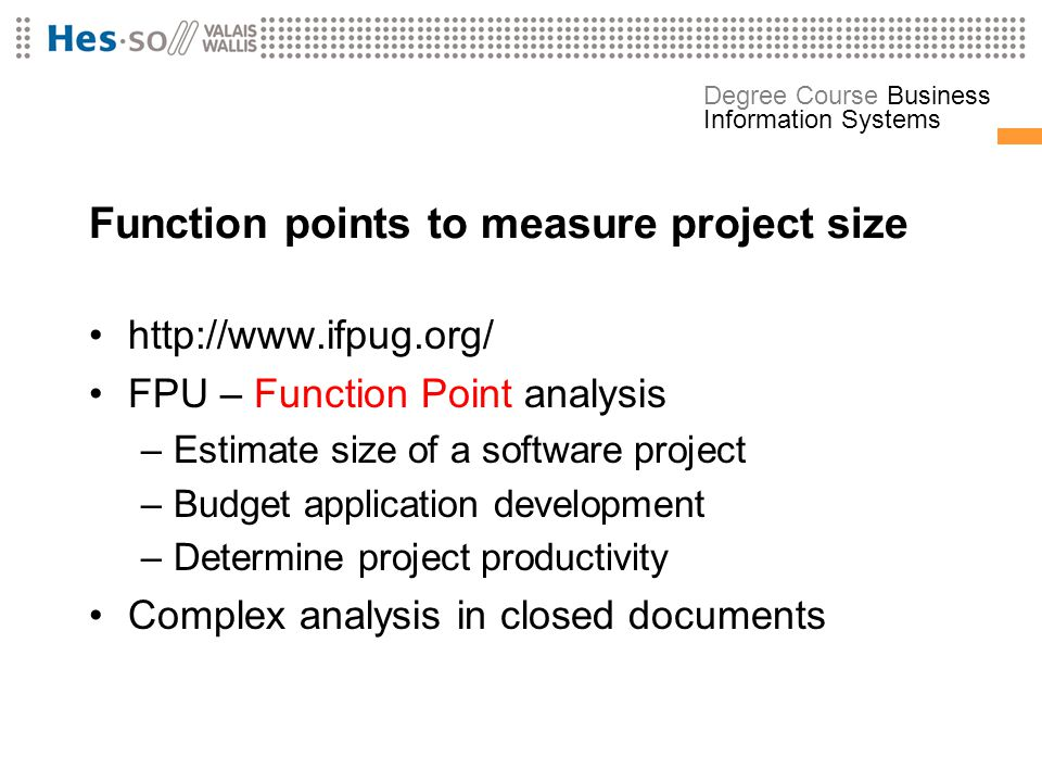 Function points to measure project size