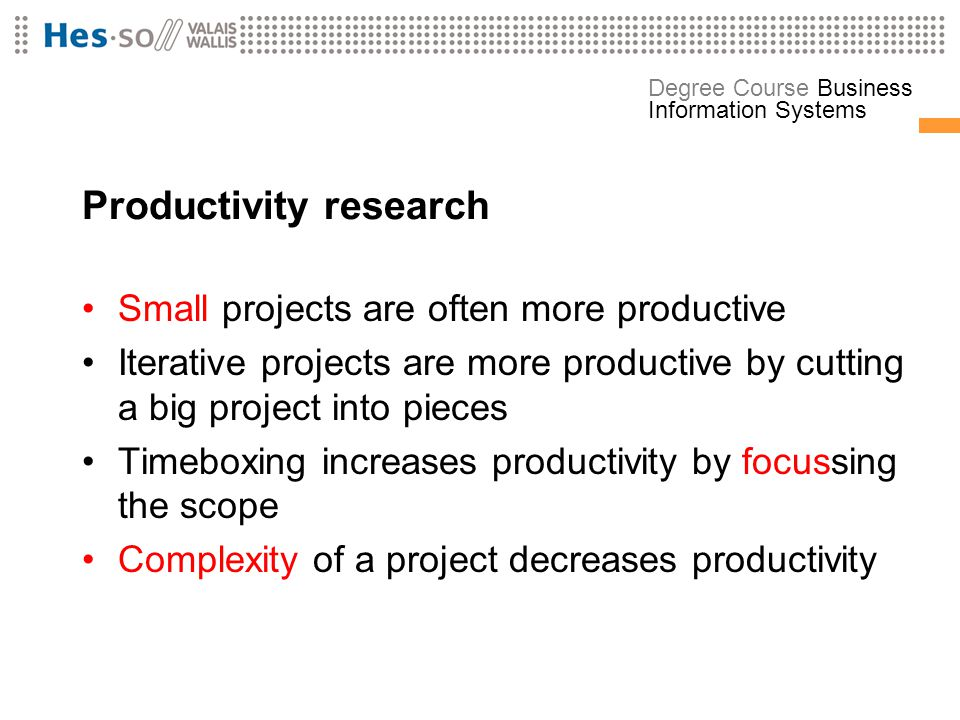 Productivity research