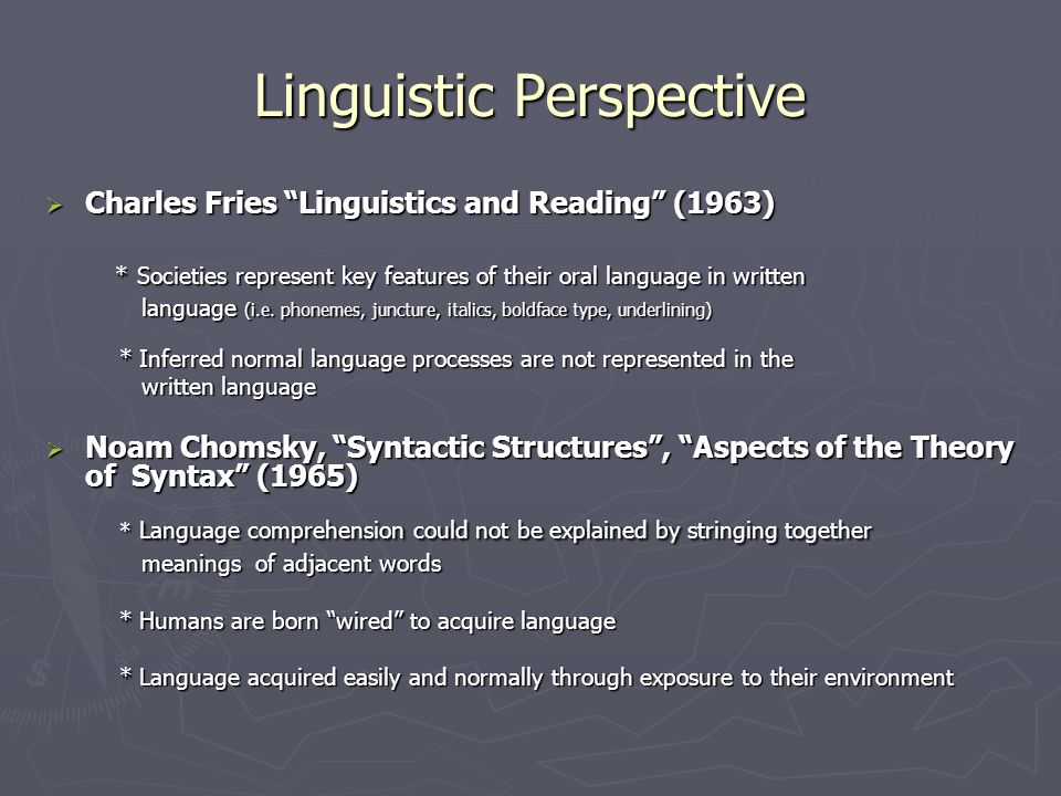 Linguistic Perspective