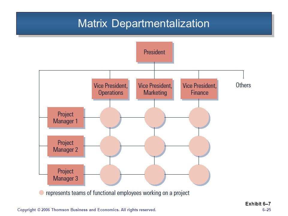 Matrix Departmentalization