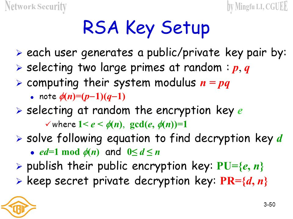 Chapter 3 – Public-Key Cryptography and Message Authentication - ppt