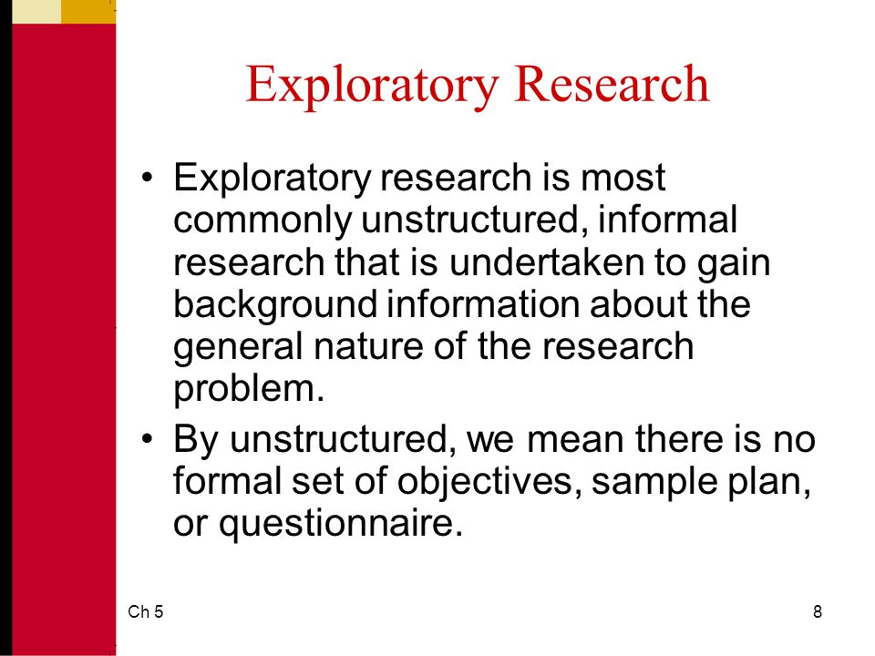 which is an example of informal research