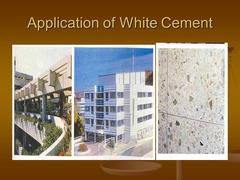 Application of White Cement