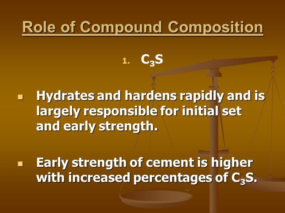 Role of Compound Composition