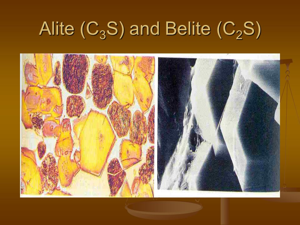 Alite (C3S) and Belite (C2S)