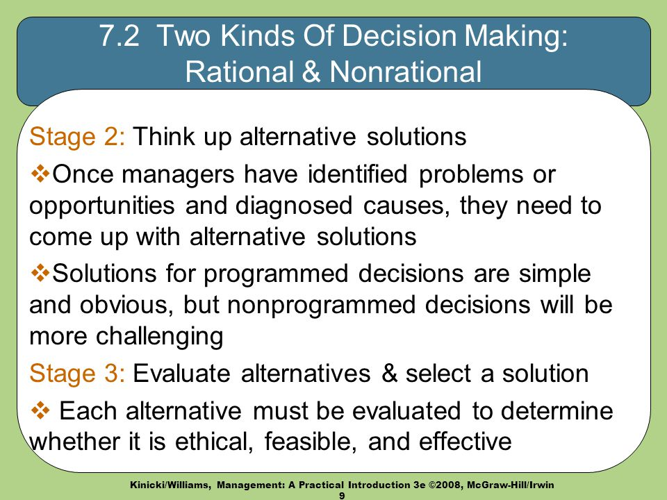 two types of decision making