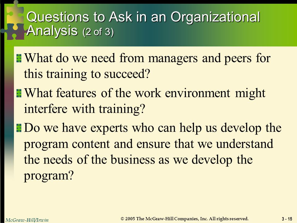 Questions to Ask in an Organizational Analysis (2 of 3)