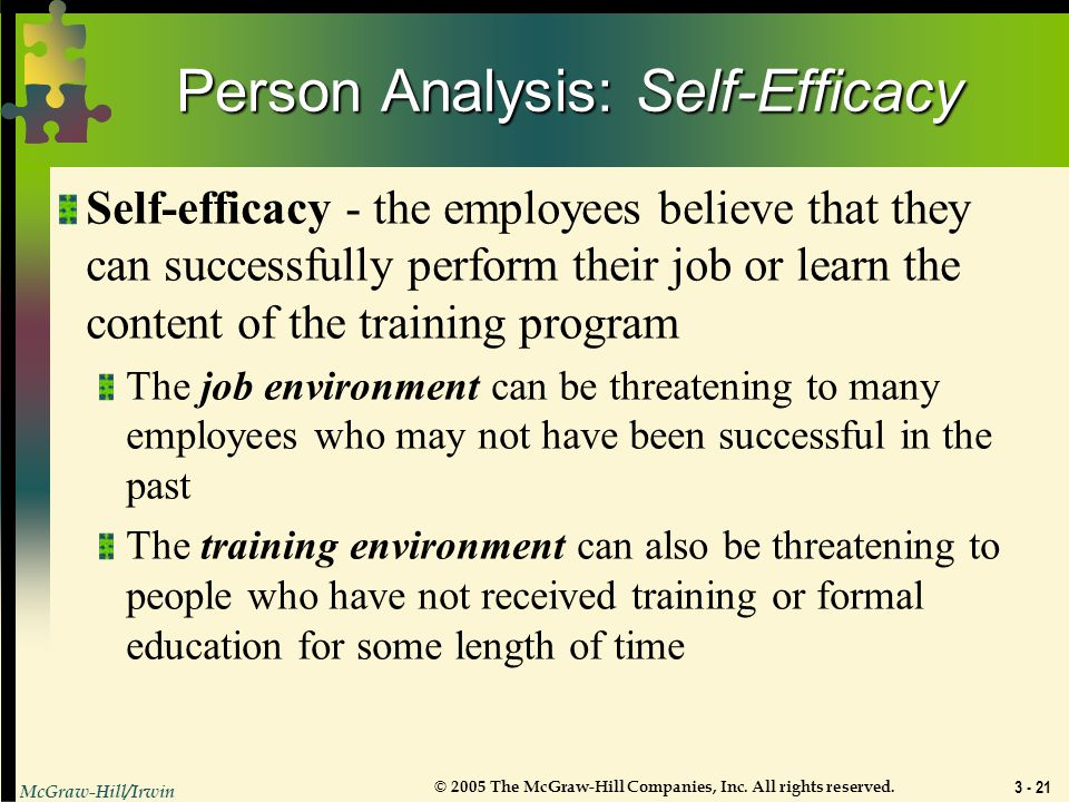 Person Analysis: Self-Efficacy